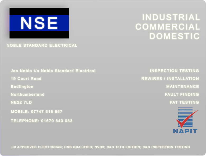 NSE | NOBLE STANDARD ELECTRICAL |